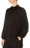 'Theatrical' Black Long Sleeve Top
