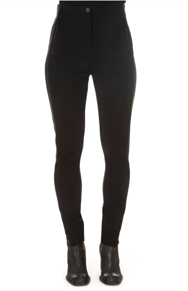 'Han' Black Trousers With Side Stripe