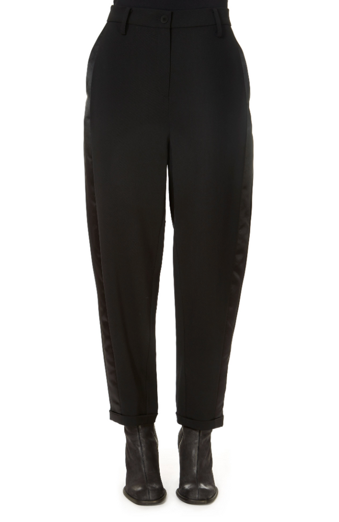 'Lane' Black Straight Leg Trousers