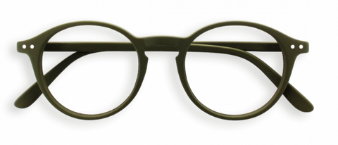 #D Khaki Green Reading Glasses | Jessimara London