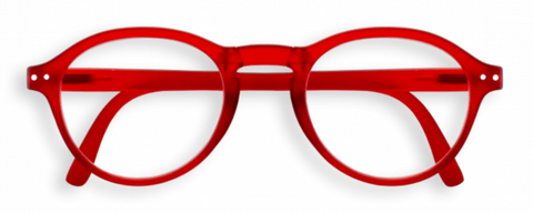 #F Red Crystal Foldable Reading Glasses | Jessimara London