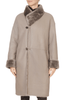 'Malone' Beige Reversible Sheepskin Coat | Jessimara London