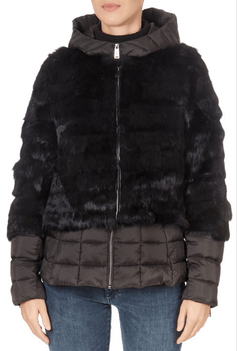 Rabbit Two Piece Black Puffer Coat