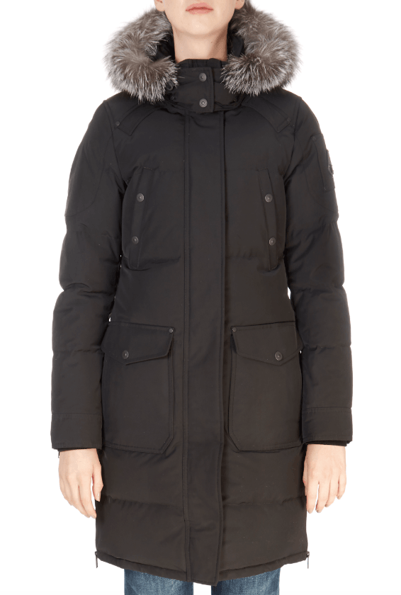 'Causapal' Black Down Parka | Jessimara London
