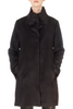 High Collar Black Alpaca Wool Coat | Jessimara London