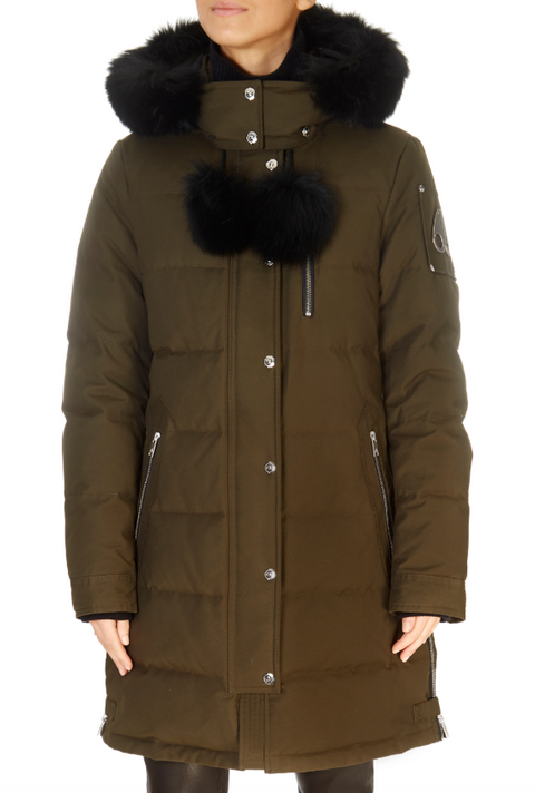 'Paddockwood' Khaki Green Parka Coat