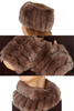 Taupe Rabbit Fur Snood and Fingerless Gloves Set - Jessimara