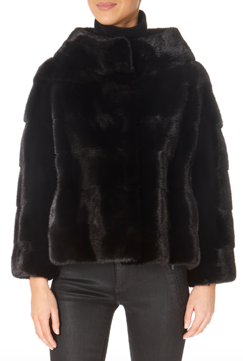 Black Mink Evening Jacket | Jessimara London