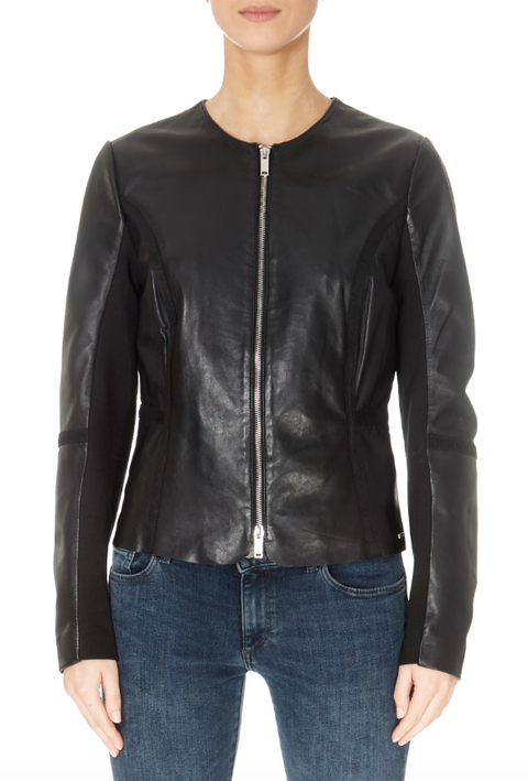 'Torri' Biker Black Zipper Jacket | Jessimara London