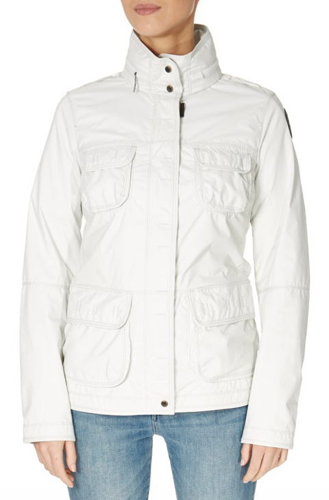 'Desert' White Rain Jacket | Jessimara London