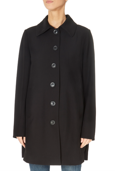 Pleated Black Rain Jacket | Jessimara London