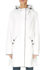 'Ice Cream' White Rain Jacket With Black Trim | Jessimara London