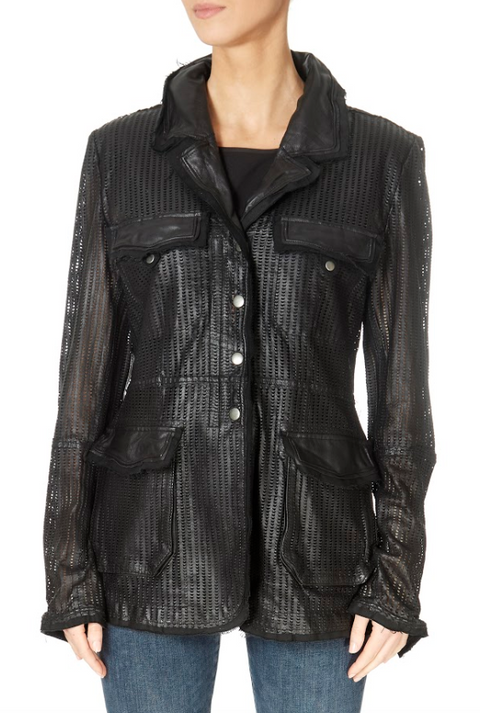 Long Black Leather Jacket | Jessimara London