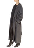 Long Grey Belted Wool Coat | Jessimara London