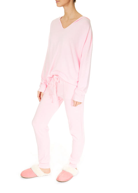 Pink Knitted Tracksuit
