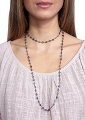 Ela Rae 'Diana' Labradorite Coin Chain Necklace