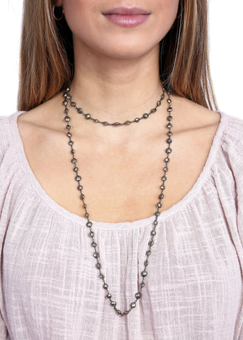 Ela Rae 'Diana' Pynte Coin Thick Chain Necklace