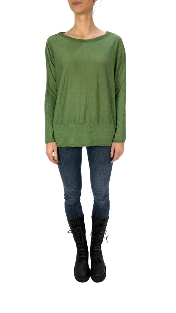 'Delta' Green Sweater
