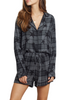 'Kellen' Charcoal Short Pyjama Set