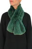 Apple Green Knitted Rex Rabbit 'Loop'  Fur Scarf