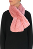 Pink Knitted Rex Rabbit 'Loop' Designer Fur Scarf