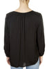'Alex' Black Long Sleeve Blouse | Jessimara London