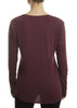 'Adiel' Barrel Plum Round Scoop Neck Top | Jessimara London