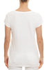 White 'Kira' Short Sleeve Tee | Jessimara London