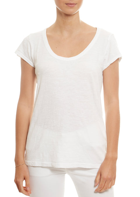White 'Kira' Short Sleeve Tee Velvet By Graham & Spencer - Jessimara