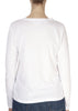 'Liz' White Long Sleeve Round Neck Tee | Jessimara London