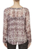 'Peyton' Metallic Pink Snakeskin Blouse | Jessimara London
