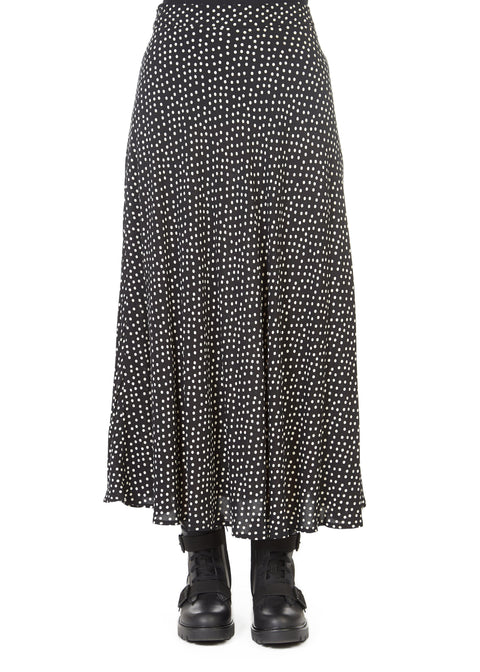 'Shay' Black Polka Dot Maxi Skirt