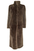 Brown Long Sheepskin Coat