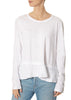 White Mock Layered Crew Neck Long Sleeve Top | Jessimara London