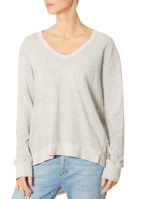 Heather Grey Boxy Back Slant Sweatshirt