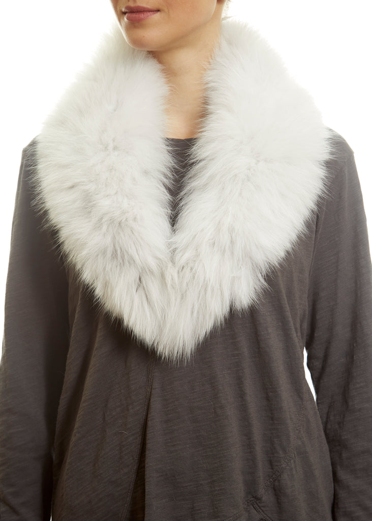 White Genuine Fox Fur Collar | Jessimara London