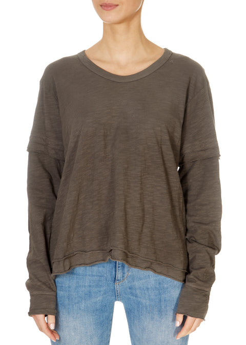 Round Neck Long Sleeve Top | Jessimara London