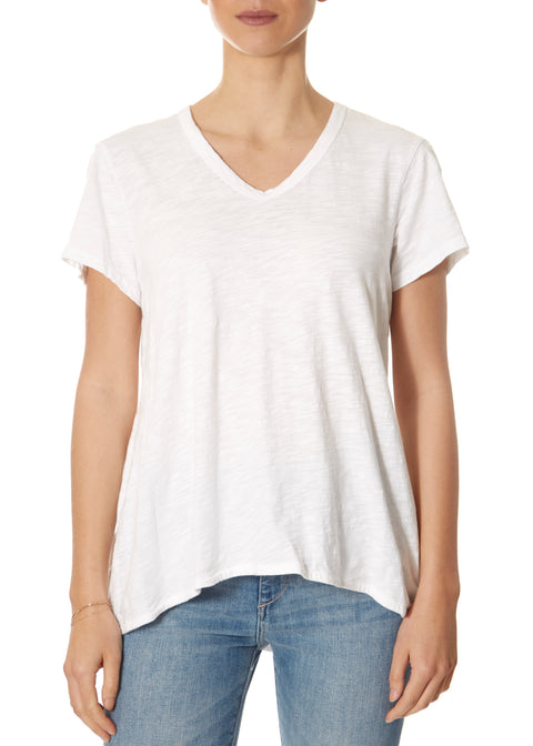 Shrunken Boyfriend White T-Shirt