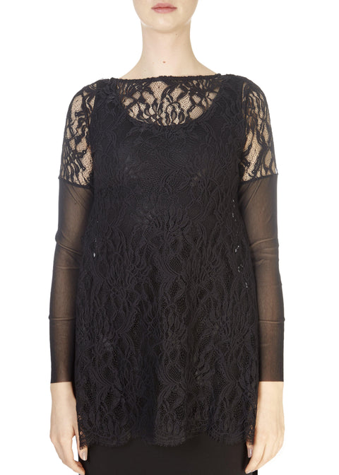 'Tisi' Elegant Black Lace Top | Jessimara London