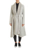 Light Grey Swing Coat With Mink Trim | Jessimara London