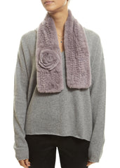 Lilac Rex Rabbit Rose Scarf