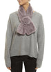 Lilac Rex Rabbit Rose Scarf Fur5eight - Jessimara