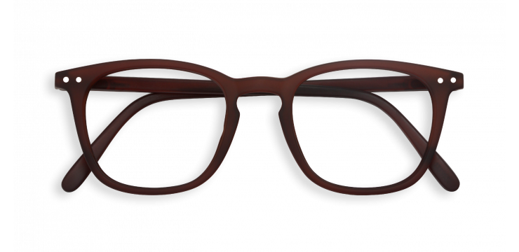 E Shape Dark Wood Brown Reading Glasses | Jessimara London
