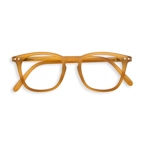 #E Shape OCher Yellow Reading Glasses | Jessimara London