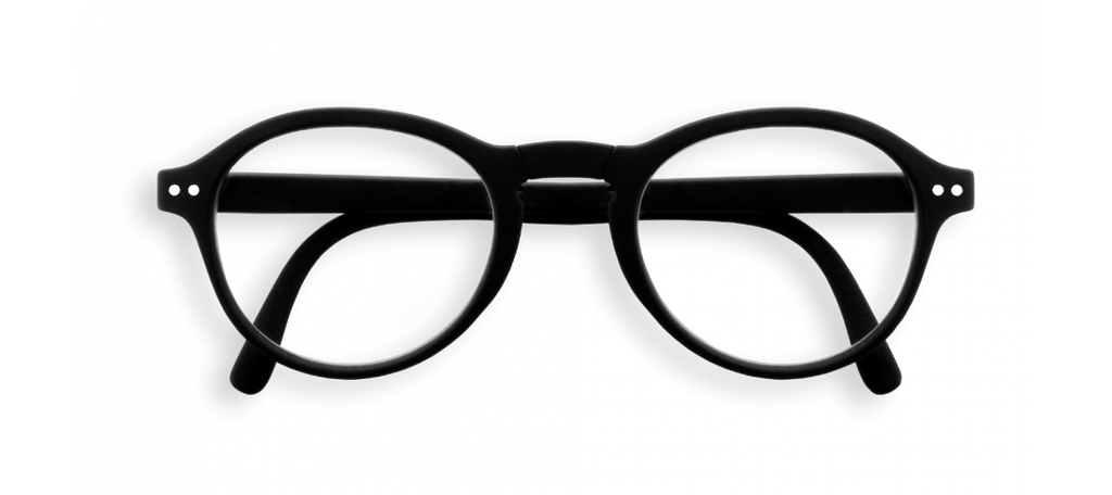F Shape Black Foldable Reading Glasses | Jessimara London