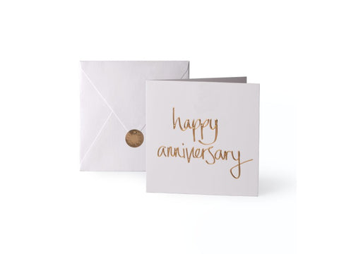 'Happy Anniversary' Gold Card | Jessimara London