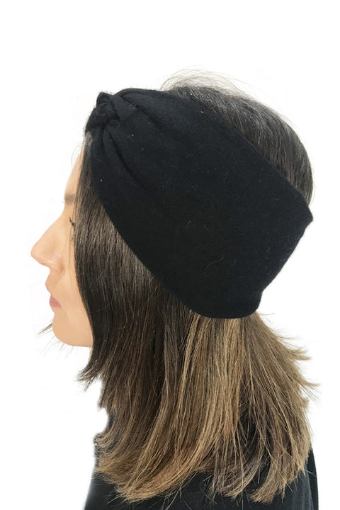 Black Cashmere Blend 'Winter Headband'