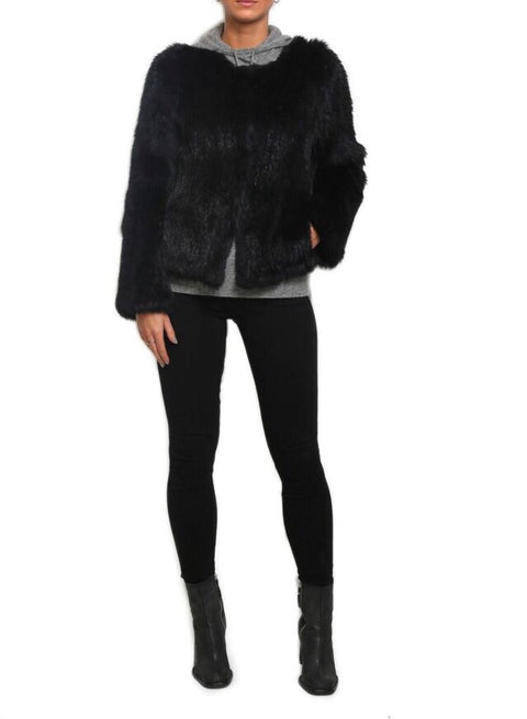 Knitted Rabbit Short Fur Jacket | Jessimara London