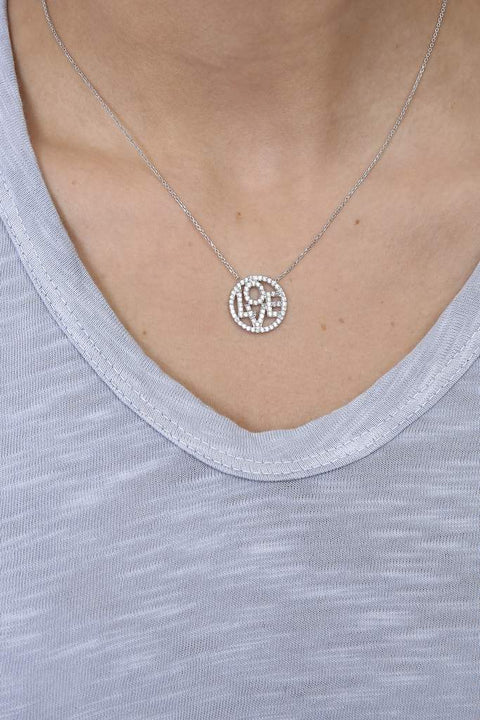 'LOVE' Sterling Silver Necklace