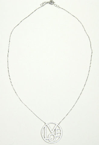 Jessimara Silver Love Necklace